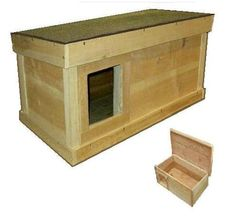 ARK Workshop Outdoor Cat House:  cedar wood shelter home for ferals strays pets LS SQ on Etsy, $78.04 CAD