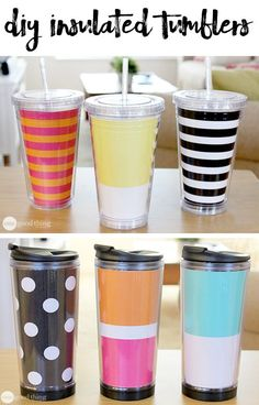 Insulated mugs and tumblers are great for when you're on the go. Find out how to make your own by following our step-by-step tutorial.  A quick and easy gift idea!
