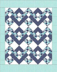 "This quilt pattern looks really gorgeous. This is a simple, modern and elegant ""Hip to be Square"" quilt pattern that you can get for free. Quilt Block Patterns, Pattern Blocks, Quilt Blocks, Lap Quilts, Strip Quilts, Amish Quilts, Quilt Baby, Quilting Projects, Quilting Designs"