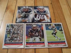 2013 Panini Absolute Score Patriots (5) Card Lot ROB GRONKOWSKI DANNY AMENDOLA