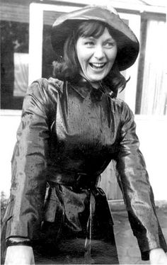 Vintage Black Rubber Raincoat & Hat