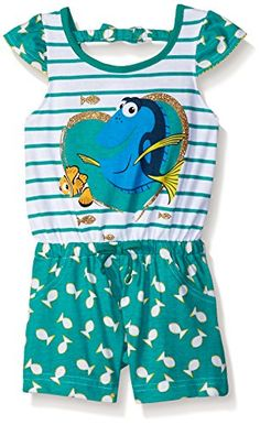 DISNEY STORE FINDING DORY TANK /& SHORTS SET GIRLS NWT DORY NEMO MARLIN