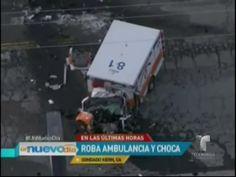 California: Dos Personas Se Roban Ambulancia Y Fallecen En Accidente Momentos Después #Video