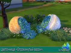 Sims 4 CC's - The Best: Capsized Flower Pots by Natatanec