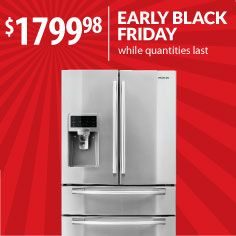 This Samsung French-door stainless steel refrigerator has a fourth door that flexes its temperature to whatever the heck you want whenever the heck you want. Speaking of which, don't you want it now? We started Black Friday early, so don't wait! Model: RF4287HARS