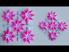 Ide Kreatif Hiasan Dinding Dari Kertas-Wall decoration ideas-Paper Craft Ideas - YouTube Paper Flower Wall, Crepe Paper Flowers, Flower Wall Decor, Fabric Flowers, Flower Decoration, Diy Wall Art, Diy Wall Decor, Easy Crafts, Easy Diy