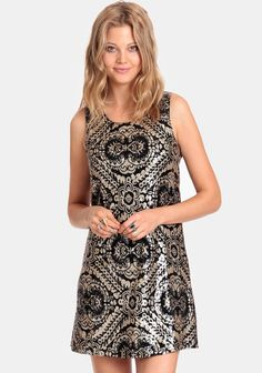 Sipping Champagne Sequined Dress at #threadsence @ThreadSence