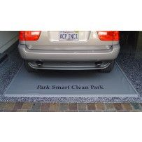 Park Smart Clean Park Standard Garage Mat  Garage Mats not only protect your garage floor, but will contain gallons and gallons of snow, water, mud, grit and grime that make a mess of your garage floor.