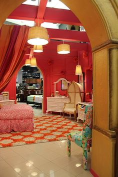 A girly girl's paradise right here at Gallery Furniture! #girls_room #indoor #home_decor | Houston Texas | Gallery Furniture |