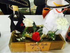 #Wedding#CenterPiece#Tequila#Charro#maguey#Rancho