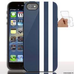Étui iphone 5 en Silicone personnalisé Racing Bleue - Coque souple - Gel - Pour Apple iPhone 5s, iPhone 5. #iPhone5 #coque #etui #accessoire