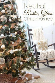 Rustic Glam Christmas tree  via /tonya/ Seemann Seemann @ Love of Family & Home