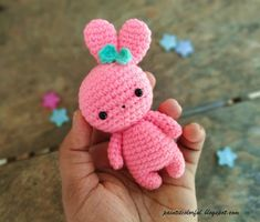 Amigurumi bunny free pattern - A little love everyday! Amigurumi bunny free pattern - A little love everyday! Easter Crochet Patterns, Crochet Bunny Pattern, Crochet Patterns Amigurumi, Amigurumi Doll, Crochet Gifts, Crochet Toys, Free Crochet, Crochet Bear, Knitted Dolls