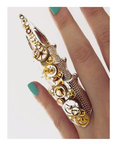 'Scales of time' Steampunk armor ring