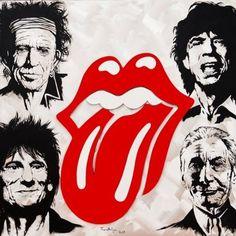 The Rolling Stones Fan Art Rolling Stones Logo, Keith Richards, Caricatures, Foto Beatles, Rollin Stones, Charlie Watts, British Rock, Rock Posters, Stone Art