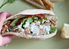 Our favorite easy to make marinated Chicken Gyros.