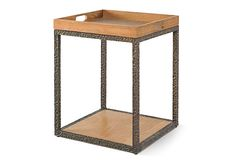 Mosely Tray Table, Bronze/Almond on OneKingsLane.com