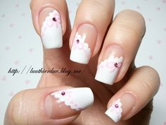 Pinned by www.SimpleNailArtTips.com INTERMEDIATE NAIL ART DESIGN IDEAS - lace nailart  click through for tutorial (in my korean blog)