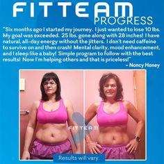 """""""Six months ago I started my journey.  I just wanted to lose 10 lbs.  My goal was exceeded.  25 lbs. gone along with 28 inches!  I have natural, all-day energy without the jitters.  I don't need caffeine to survive on and then crash!  Mental clarity, mood enhancement, and I sleep like a baby!  Simple program to follow with the best results!  Now I'm helping others and that is priceless!"""""""
