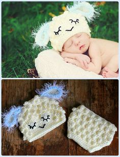 Baby Lamb, sheep  Hat and Diaper cover  - PDF Pattern on Etsy, $5.75