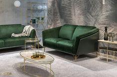 #kler #meblekler #klermeble #klerdesign #designkler #excellence #klerexcellence #wnętrza #Gondoliere #green #zieleń #zielonyakcent #złoto #gold #new  #sofa #salon #projektowanie #design #meble #dom #komfort #jakość #quality #wypoczynek #styl  #style #modern #relaks #relax #furniture #furnituredesign #interior #interiordesign #home  #dom #dodatki #dekoracje #homedecor #stolik #stolikkawowy #coffeetable Boy Photography Poses, Sofa, Couch, Teak, Love Seat, Green, Furniture, Home Decor, Design