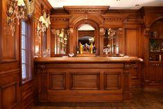 Residential Bars and interior woodwork by Wood & Laminates, Inc. Custom wood bars and interiors Pub Interior, Room Interior Design, Bar Pool Table, Built In Bar, Basement Inspiration, Home Bar Designs, Victorian Interiors, Custom Kitchens, Basement Remodeling