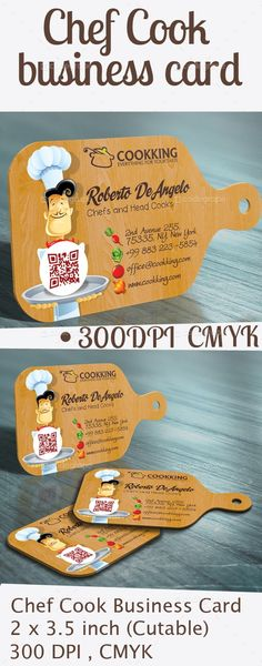 Chef Cook Business Card - http://www.codegrape.com/item/chef-cook-business-card/5390