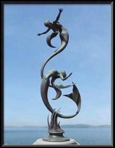 Fabulous mermaid sculpture by David Goode. Mermaid Sculpture, Sculpture Art, Sculptures, Mermaid Statue, Abstract Sculpture, Mythical Creatures, Sea Creatures, Mermaid Fairy, Mermaids And Mermen