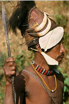 India   Portrait of a Naga tribesman.  © Dos Bertie Winkel