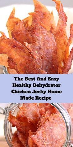 Jerkey Recipes, Meat Recipes, Chicken Recipes, Cooking Recipes, Best Chicken Jerky Recipe, Best Food Dehydrator, Pork Jerky Recipe Dehydrator, Dehydrated Chicken, Dehydrated Food Recipes