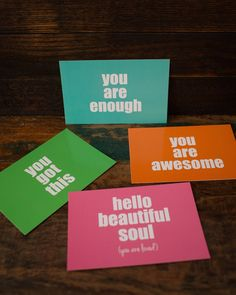 happy mail postcard prints (set of Resident Assistant, You Are Awesome, Awesome Things, Postcard Printing, You Are Enough, Write To Me, Hello Beautiful, Quotes For Kids, Inspirational Gifts