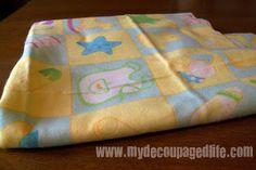 My Decoupaged Life: Flannel Burp Cloth {tutorial}