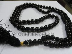 Black Agate Necklace Beads Natural African by beadsincredible, $24.95