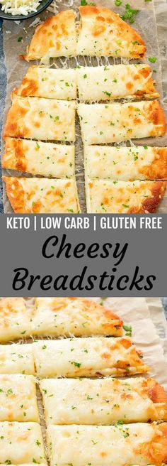 Diet Snacks These cheesy breadsticks are keto, low carb and gluten free. They are ready in about 30 minutes! - These cheesy breadsticks are keto, low carb and gluten free. They are easy to make and ready in about 30 minutes. MOZZARELLA CHEESE AND. Desserts Keto, Keto Snacks, Healthy Snacks, Keto Foods, Keto Diet Meals, Paleo Diet, Vegan Keto, Liw Carb Snacks, Eating Paleo