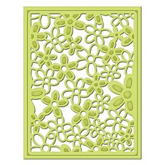 Shapeabilities Floral Decorative Card Front Card Creator Etched Dies