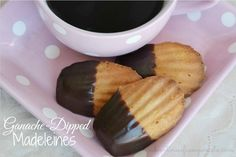 Ganache-Dipped Madeleines Recipe - these are so easy and the perfect companion to a hot cup of coffee!