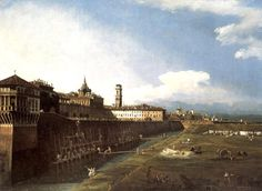 Bernardo Bellotto - View of Turin.
