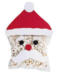 christmas popcorn santa, arts and crafts with puffs Christmas Popcorn, Noel Christmas, Christmas Goodies, Winter Christmas, Christmas Gifts, Xmas, Christmas Crack, Christmas Parties, Christmas Activities