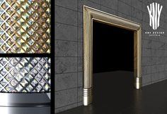 New trends in luxury interior design – This is how to really make a grand entrance. Golden or silver door frames with Swarovski crystals by Kny Design www.kny-design.com Door Frames, Grand Entrance, Luxury Interior Design, Lighting Solutions, Glass Design, New Trends, Lighting Design, Swarovski Crystals, Construction