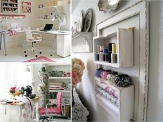 I would love to organize my sewing area like this