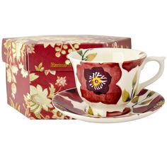 Christmas Rose Large Teacup & Saucer Boxed (Christmas 2015) Discontinued