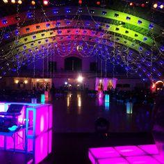 Up lighting and illuminated DJ booth!