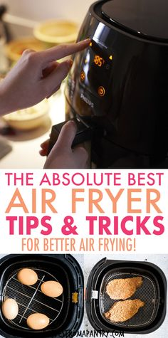 These Top Air Fryer Tips make cooking delicious dishes in your Air Fryer easier, efficient and more fun! Whether you're new to air frying or a seasoned pro, you'll want to keep these kitchen tips on hand for quick reference. Post also includes my favourite and most popular Air Fryer Recipes. Click through to get the super helpful air fryer hacks! for beginners and seasoned pros! #airfryer #airfryertips #airfryerrecipes #airfriedfoods #kitchentips #kitchenhacks #airfried #tips Air Fryer Recipes Snacks, Air Frier Recipes, Air Fryer Dinner Recipes, Air Fryer Cooking Times, Top Air, Air Fryer Healthy, Air Frying, Food For A Crowd, Easy Food To Make