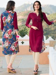 Kurtis On Zinnga Whats App 9246261661 Royal Fashion, Indian Fashion, Girl Fashion, Womens Fashion, Salwar Designs, Blouse Designs, Pakistani Outfits, Indian Outfits, Jennifer Lopez