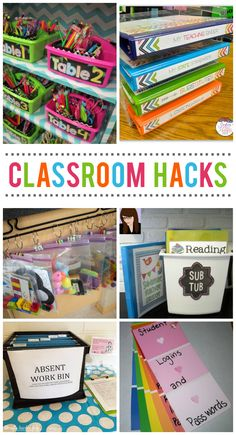 15 Classroom Organization Hacks Every Teacher Should Know 15 Klassenzimmer-Organisations-Hacks, die jeder Lehrer wissen sollte Teacher Hacks, Teacher Organization, Teacher Tools, Organization Hacks, Organized Teacher, Teachers Toolbox, Teacher Binder, Basket Organization, Teacher Stuff