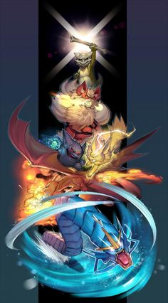 Amazing Pokémon artwork. I wish I could credit the artist, but I'm afraid I couldn't find the correct source