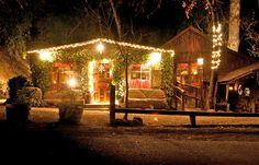 night time at Cold Spring Tavern near Santa Barbara, CA