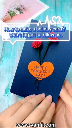 Teachers Day Card Design, Teachers Day Greeting Card, Greeting Cards For Teachers, Greeting Cards Handmade, Handmade Teachers Day Cards, Diy Crafts For Gifts, Paper Crafts For Kids, Diy For Kids, Diy Paper