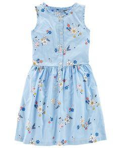 87638e3c723 Sleeveless Floral Dress. Dresses Kids Girl ...