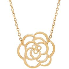 Lord & Taylor 14K Yellow-Gold Flower Pendant Necklace ($280) ❤ liked on Polyvore featuring jewelry, necklaces, yellow gold, 14k gold pendants, gold pendant, fine jewelry, gold pendant necklace and gold fine jewelry